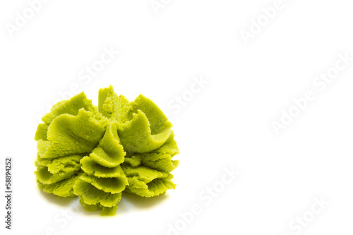 Wasabi isolated on white background