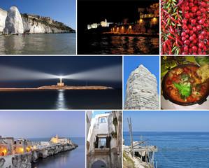 collage Vieste, Puglia, Italy