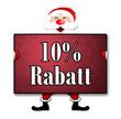 """Weihnachtsposter """"10% Rabatt"""""""