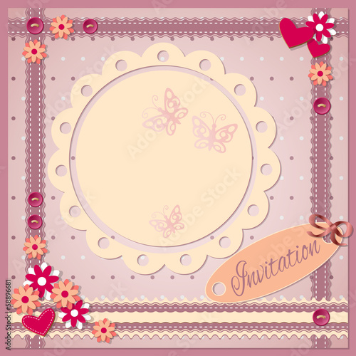 invitation scrapbooking card