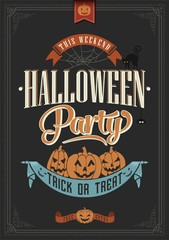 Happy Halloween Typographical Background