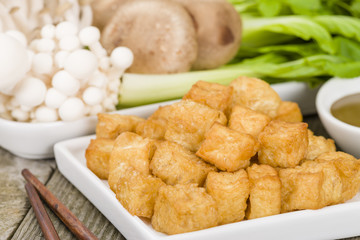 Tofu Puffs - Deep fried tofu.