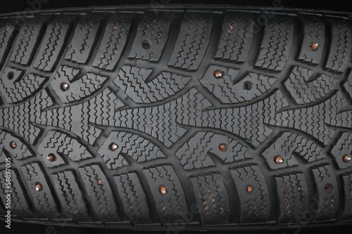Old studded tire