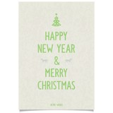 Just Christmas wishes poster on vintage old paper with text