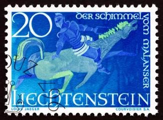 Postage stamp Liechtenstein 1967 The Man from Malans
