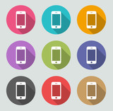 Smartphone icon - Flat designs