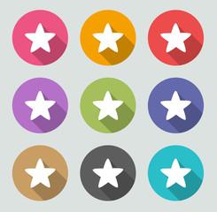 Star icon - Flat designs