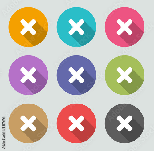 Delete icon - Flat designs