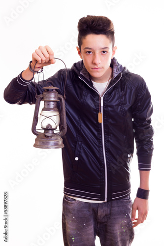 Boy with a lamp
