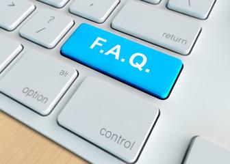 keyboard with FAQ button