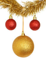 Red and gold baubles