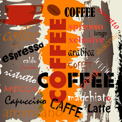 coffee  advertising / menu design, vector