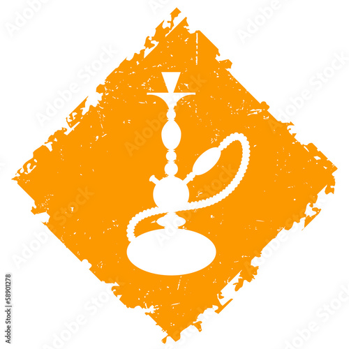 hookah with the background for the vector