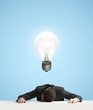 lamp over head