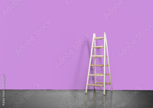 concrete floor and ladder