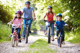 Family On Cycle Ride In Countryside - 58901860