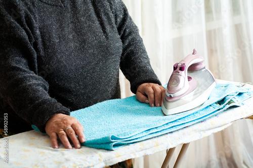iron clothes senior