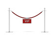 rope barrier with a vip sign - 58903263