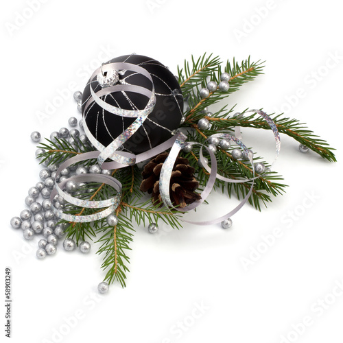.Christmas decoration isolated on white background .