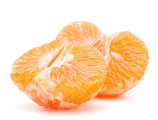 Peeled tangerine or mandarin fruit half