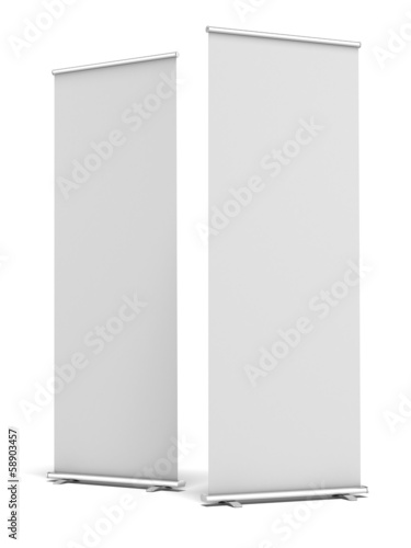 Two Blank Roll Up Display Banner