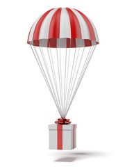 parachute with a gift