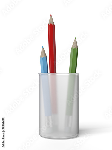 color pencils in a cup