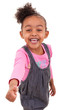 Portrait of an african american little girl making thumbs up  -