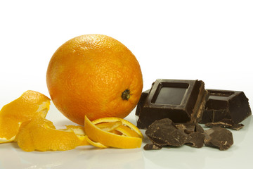 orange peel and chocolate
