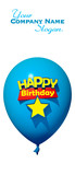 Happy Birthday blue balloon
