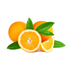 oranges isolated on white background
