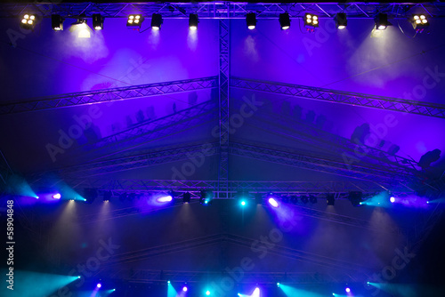 Poster Licht, schaduw Stage lights