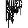 Music Is My Life Graffiti Design