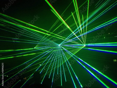 canvas print picture green dancefloor