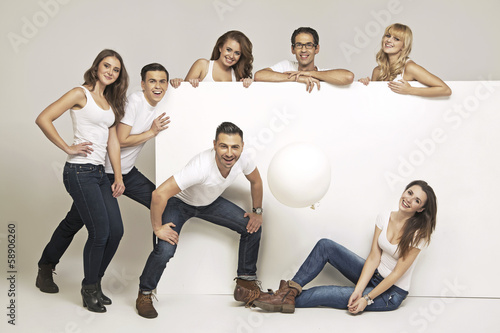 Fine picture of laughing group of people