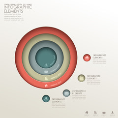 abstract 3d concentric infographics