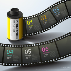 abstract 3d film infographics