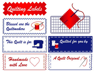 Quilting Sewing Labels, copy space, mat, machine, do it yourself