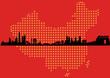 China Map Skyline