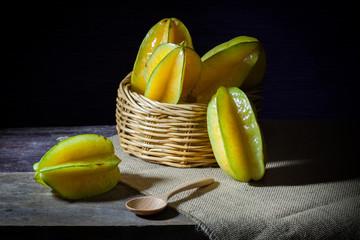 Basket of Star fruit