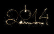 New Year 2014 Sparkling Holiday Design on Black Background