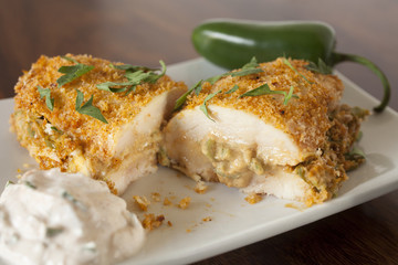 Jalapeno Popper Chicken Stuffed and Breaded Chicken Breast