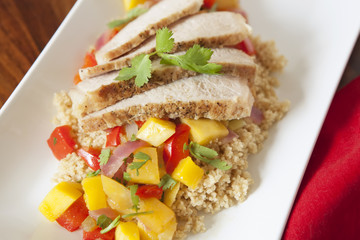 Pork Tenderloin with Mango-Chili Salsa
