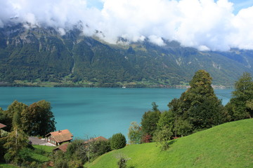 green lake near Interlaken, Switzerland