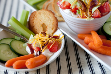 BLT Bacon Lettuce Tomato Party Dip