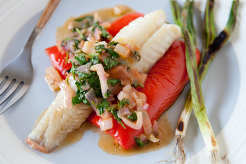 Pan-Seared Red Snapper with Lime-Chili Sauce