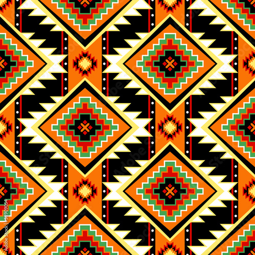 First nations seamless warm pattern