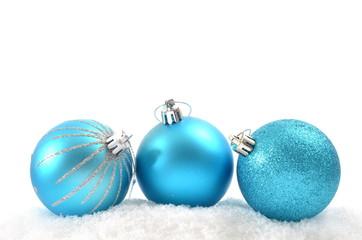Weihnachtskugeln Türkis