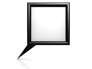 Black dialog bubble