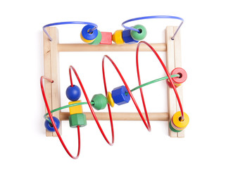 Top view wooden toy